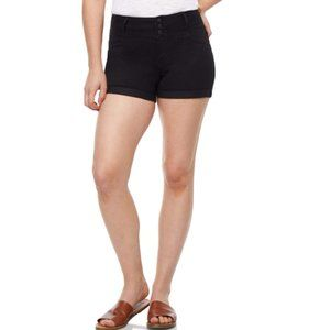 Wallflower high rise button shorts - plus size 14W